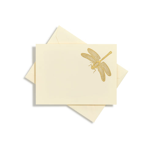 Dragonfly Gold Notecards | Set of 10