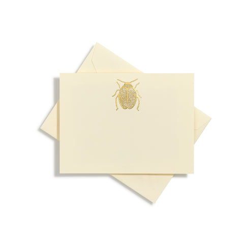 Scarab Gold Notecards | Set of 10