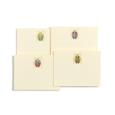 Scarab Hand-painted Notecards | Set of 8