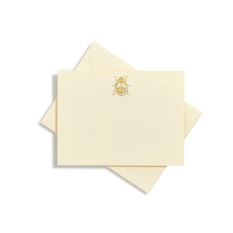 Ladybug Gold Notecards | Set of 10