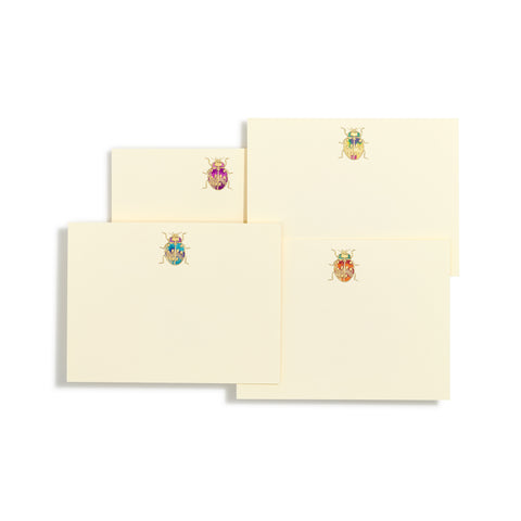 Ladybug Hand-painted Notecards | Set of 8