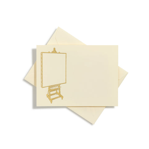 Easel & Canvas Gold Notecards | Set of 10