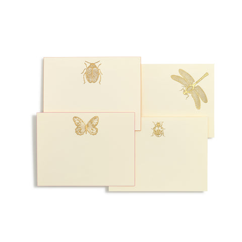 Bugs Assorted Gold Notecards  | Set of 10
