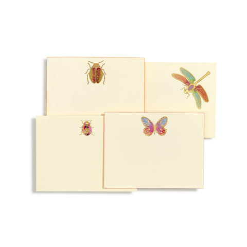 Assorted Bugs Hand-painted Notecards | Set of 8