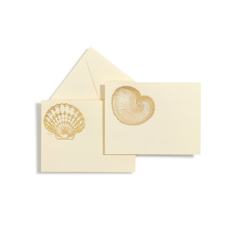 Shells Gold Assorted Notecards | Set of 10