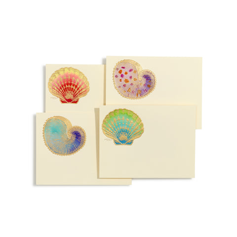Shells Hand-painted Assorted Notecards | Set of 8