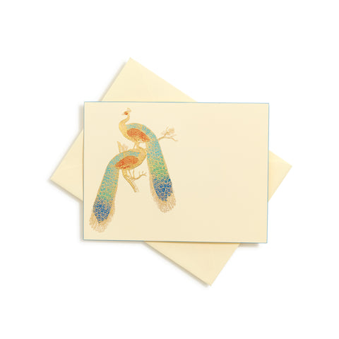 Peacock Hand-Painted Notecards | Set of 8