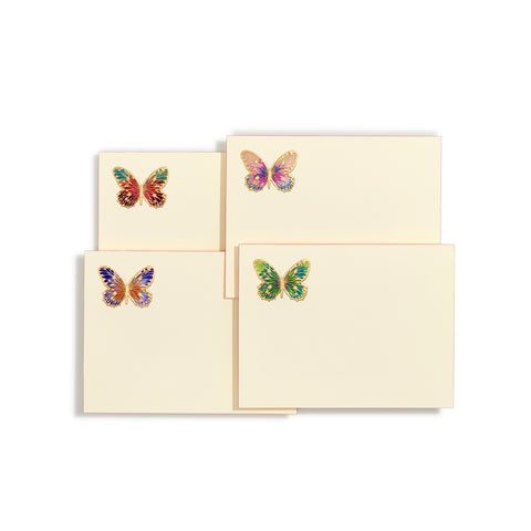 Hand-painted Left Butterfly Notecard | Set of 8
