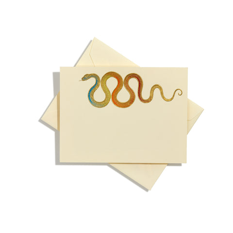 Snake Hand-painted Notecards | Set of 8