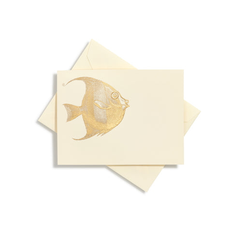 Fish Gold Notecards | Set of 10
