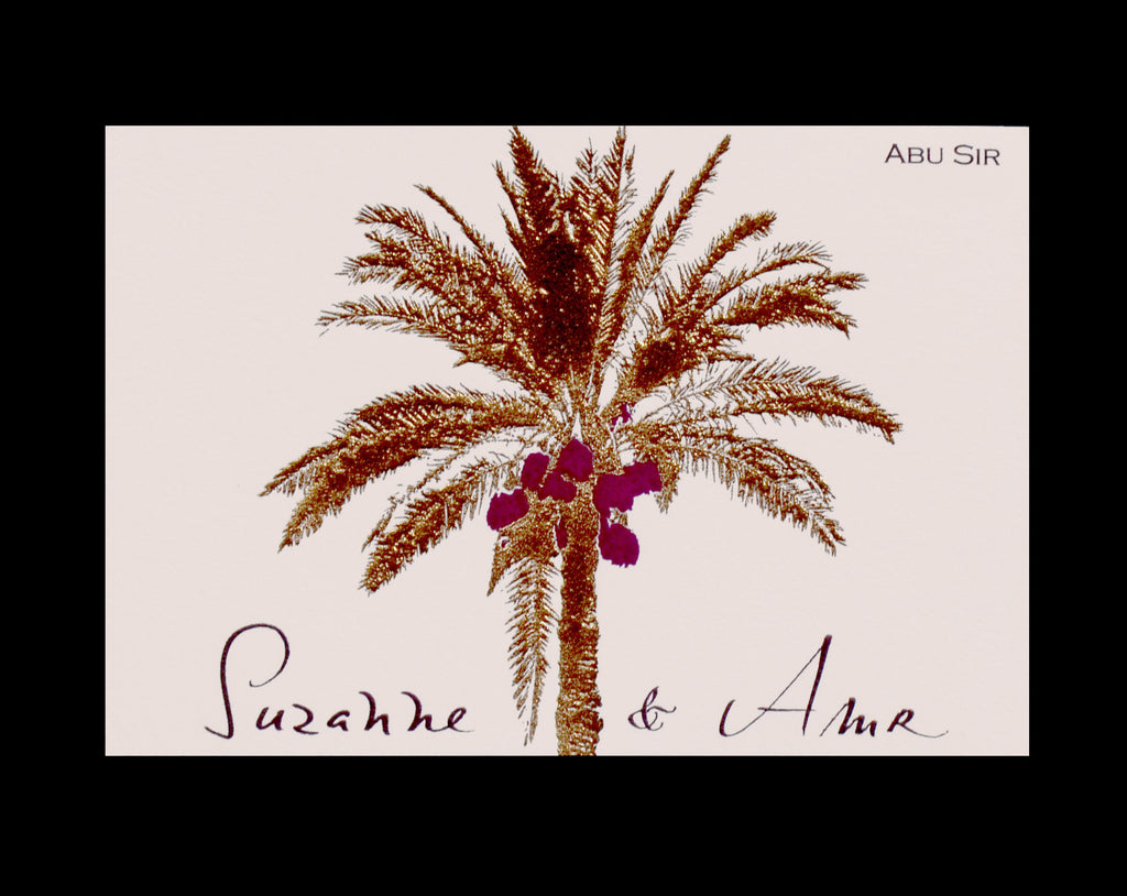 Personal; title: Palm Tree Calling Card