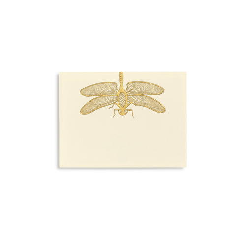Dragonfly Gold Place Cards  |  Set of 10