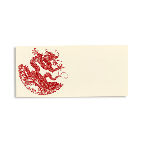 Dragon Red Place Cards  |  Set of 10
