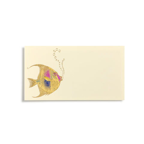 Fish With Bubbles Place Cards  |  Set of 8
