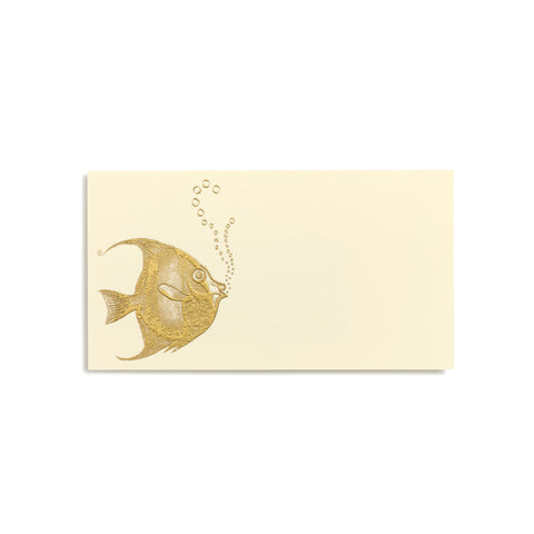 Fish With Bubbles Gold Place Cards  |  Set of 10