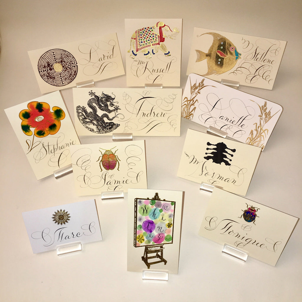 Envelopes & Placecards; title: Place Card Mixed