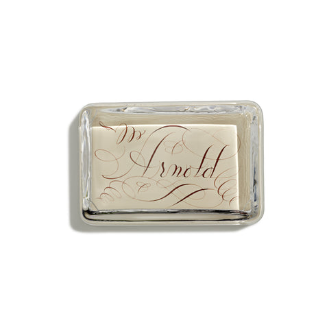 Customized Cream Rectangular Paperweight