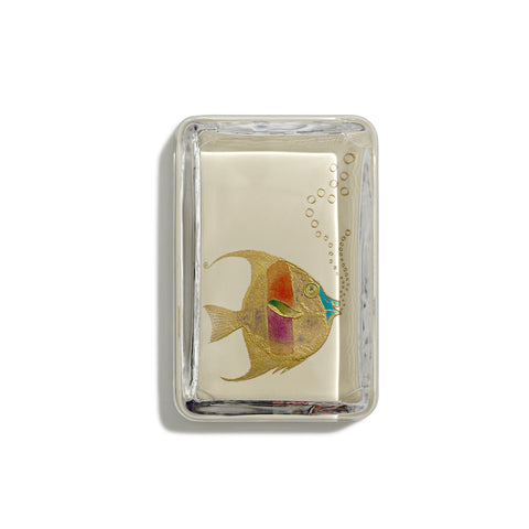 Fish With Bubbles Paperweight