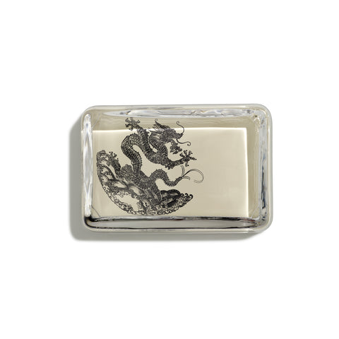 Dragon Black Rectangular Paperweight