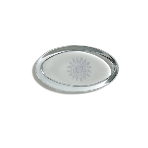 Snowflake Oval Paperweight
