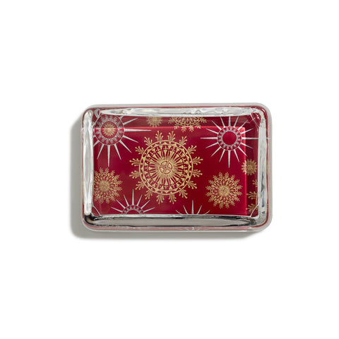 Snowflake Red Paperweight