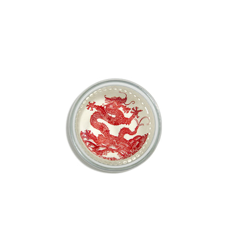 Dragon Red Dome Paperweight