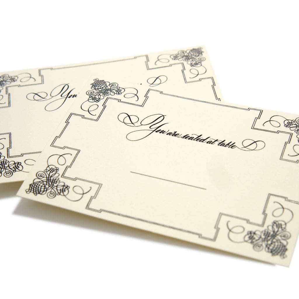 Deluxe Cream Seating Cards | Set of 10