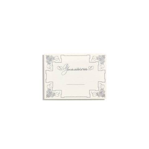 Deluxe Silver Seating Cards | Set of 10