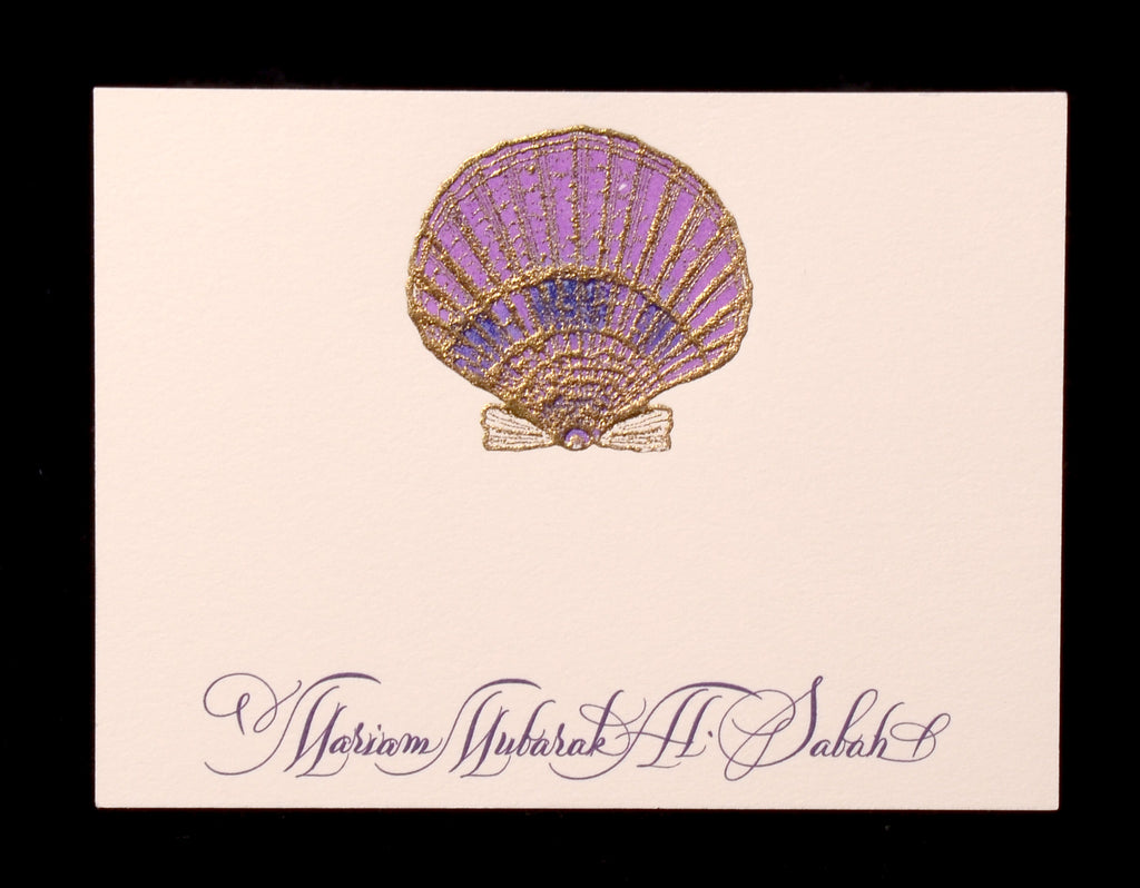 Custom Retail; title: Scallop Calling Card Miriam