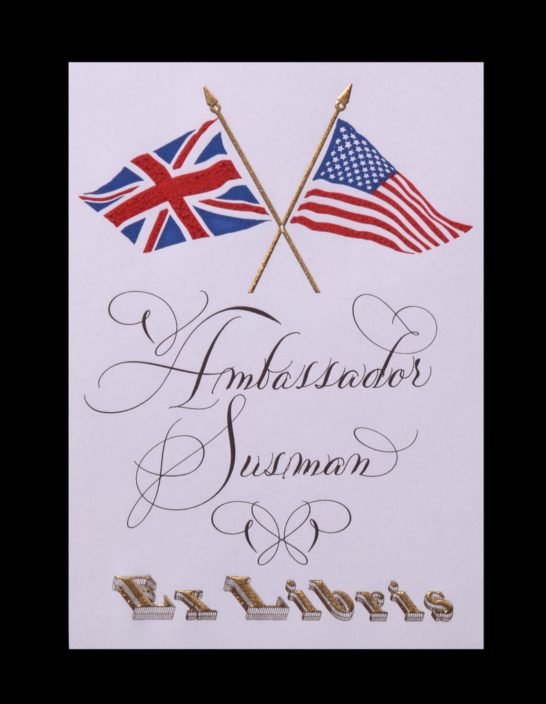 Custom Retail; title: US England Bookplate Ambassador Susman