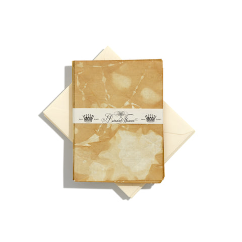 Limited Edition Tea-Stained Small Writing Paper | Set of 8