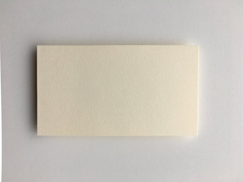 Simple Cream Place Cards  |  Set of 10