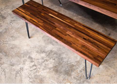 Butcher Block Bench (Two Seater)