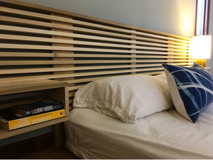 Extra Long Slat Headboard with Pair of Side Tables – Made to Order