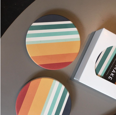 Sunset Ceramic Coasters -Set of 4