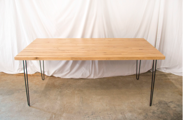 "Butcher Block  Table 36""  x 72"" W with Steel Hairpin Legs"