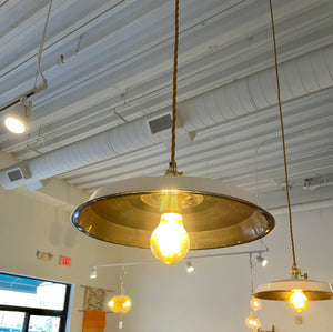 Plug-in Vinyl Record Pendant Light