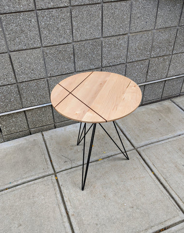 Maple with Walnut Inlay Hudson Side Table by Tronk Design