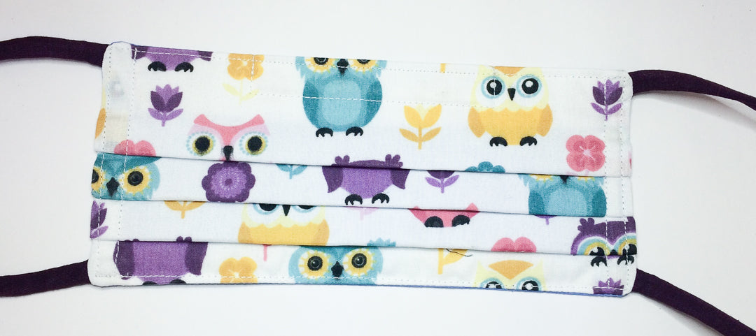 Reversible Face Covering: Owls (adult size)