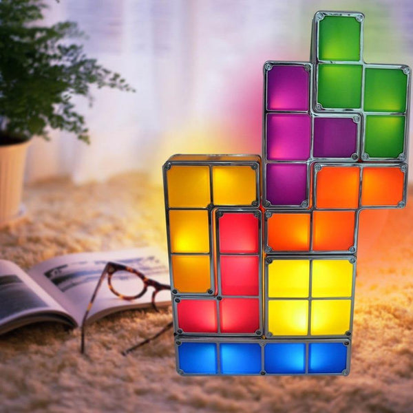 7 PCS Stackable LED Light 3D Puzzles Magic Blocks Toy Set-Excitell Toys