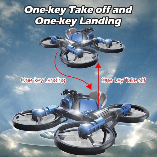 2 in 1 RC 2.4G Folding Drone Deformable Motorcycle