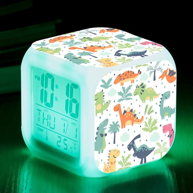 7 Colors Changing Night Light Led Digital Clock