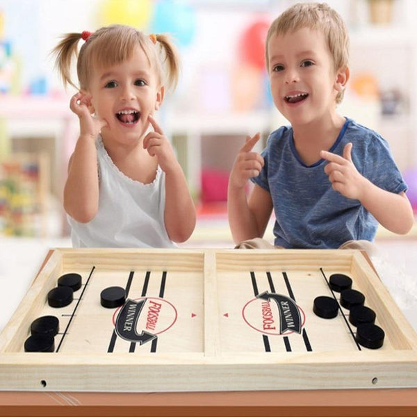 Table Hockey Paced Sling Puck Board Games For Adult Child Family Party-Excitell Toys