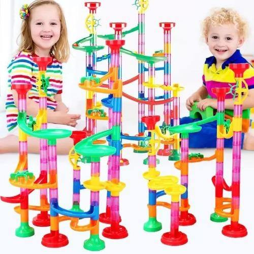 105PCS DIY Track Pipe Ball Circuit Marble Run Building Blocks-Excitell Toys