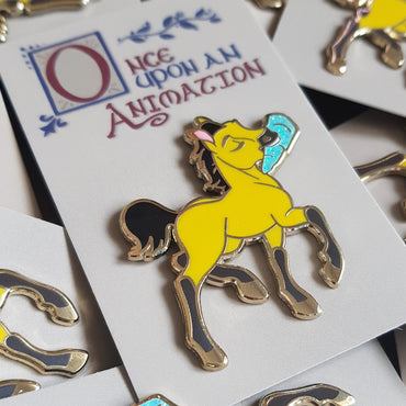 Young Spirit 'Once Upon An Animation' Gold Hard Enamel Pin with Glitter Icicle