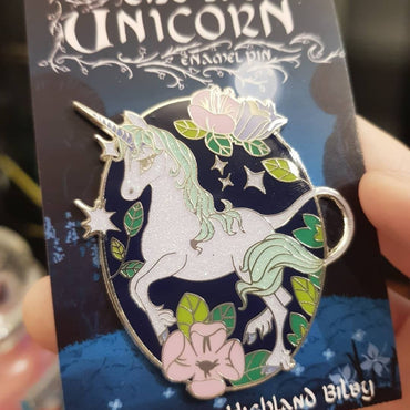 The Last Unicorn Glitter Enamel Pin