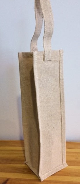 Sac à vin jute (bordure naturel)