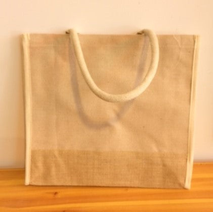 Sac en Jute 16x14x6 (Bordure naturel )