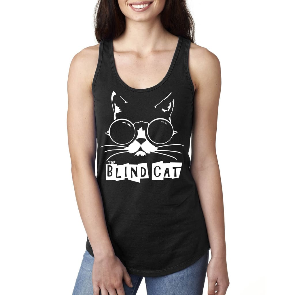 Blind Cat Racerback Tank Top