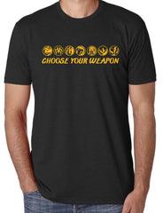 "SUCIOWEAR OFFICIAL ""Choose your Weapon"" Quality Unisex Tees Black/Gold Foil"